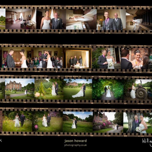 Framed wedding story