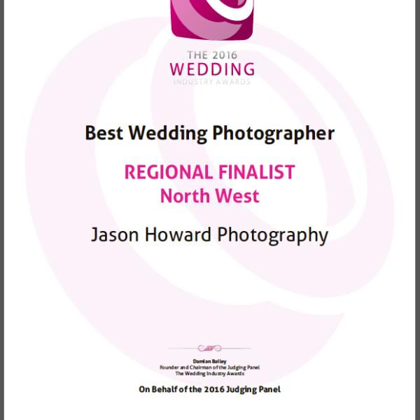 Best Wedding Photographer - Regional Finalist North West