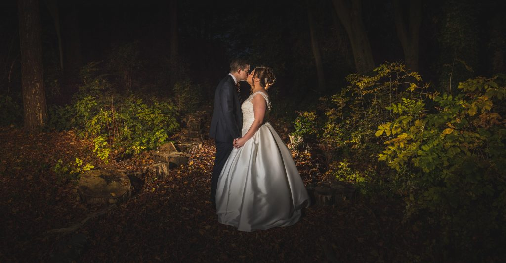 evening wedding photography at Inglewood Manor wirral