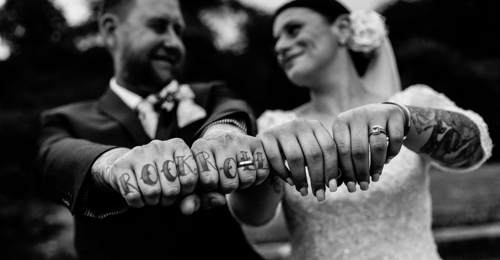 Rock and Roll wedding photography by Jason Howard in Chester