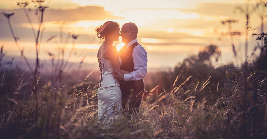 summer wedding photography at Cock O Barton